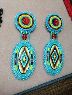 Beaded earrings, Jeannie Yuman (on Facebook)