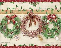 Shawn D Jenkins Licensed Art: Fall Christmas Spring Summer and Everyday Christmas Flowers, Christmas Scenes, Christmas Pictures, Christmas Projects, Vintage Christmas, Christmas Holidays, Christmas Decorations, Christmas Graphics, Christmas Clipart