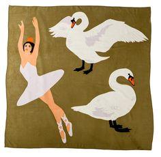 Swan Lake Oversized Wool Scarf | Karen Mabon