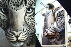 40 Beautiful and Inspiring Body Painting Photos You Haven't Seen Before - full-body painting art created by Craig Tracy - Craig Tracy, Amazing Optical Illusions, Funny Illusions, Illusion Kunst, Illusion Art, Trippy Photos, Full Body Paint, Oeuvre D'art, Les Oeuvres
