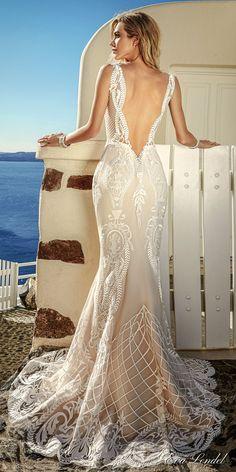 Eva Lendel 2017 bridal sleeveless thin strap v neckline full embellishment elegant sexy fit and flare wedding dress open low v back sweep train (tailor) bv #wedding #bridal #weddingdress