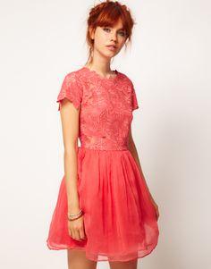 Lonny's Merrick Orange Strapless Dress