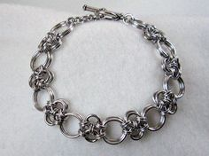 Japanese Cross/ Stepping Stones Chainmaille Bracelet #jewelry #links