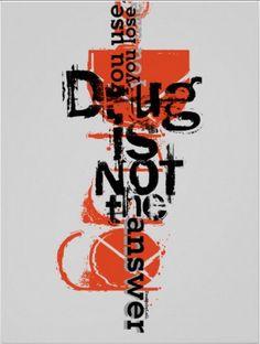 Leili Fatemi . Anti-Drug poster . Let's save our kids life.
