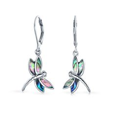Purchase Dragonfly Garden Rainbow Abalone Shell Inlaid Drop Leverback Earrings For Women For Teen 925 Sterling Silver from Bling Jewelry Inc on OpenSky. Share and compare all Jewelry. Cute Jewelry, Bling Jewelry, Sterling Silver Earrings, 925 Silver, Abalone Shell, Silver Charms, Fashion Necklace, Women's Earrings, Dangles