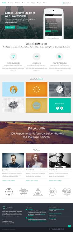 Responsive template, JM Galeria by joomlaman on Creative Market