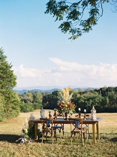 Rustic Outdoor Wedding Reception Tablescape
