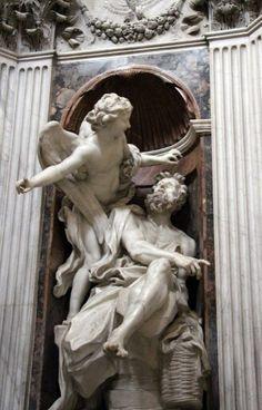 'Abacuc and angel' Bernini