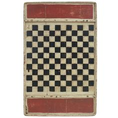 Painted Game Board | From a unique collection of antique and modern game boards at http://www.1stdibs.com/furniture/folk-art/game-boards/