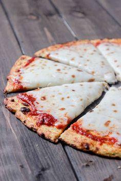 A cauliflower pizza crust.