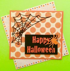 Happy Halloween Spider Web Card