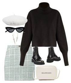 """Sem título #1645"" by oh-its-anna ❤ liked on Polyvore featuring Natasha Zinko, Balenciaga, Summa, Prada Sport, Le Specs and Pamela Love"