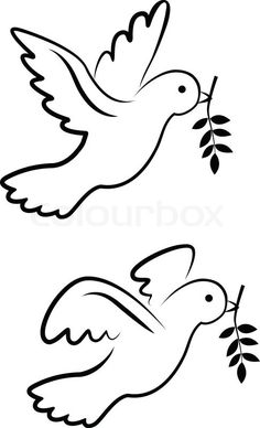 """Buy the royalty-free Stock vector """"Vector dove symbol"""" online ✓ All rights included ✓ High resolution vector file for print, web & Social Media Dove Symbolism, Dove Drawing, Diy And Crafts, Paper Crafts, Bird Quilt, Simple Cartoon, Bird Silhouette, Bird Drawings, Paper Crafting"""