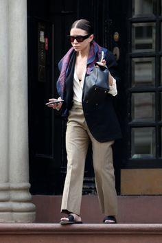 Ashley Olsen does minimal chic.