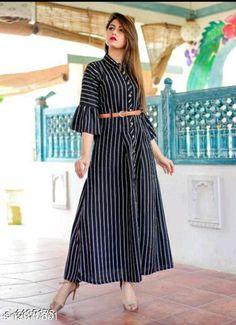 Kurtis & Kurtas Vedika Fancy Women Gowns Fabric: Synthetic Crepe Sleeve Length: Three-Quarter Sleeves Pattern: Printed Multipack: 1 Sizes:  S (Bust Size: 36 in, Length Size: 52 in)  XL (Bust Size: 42 in, Length Size: 52 in)  L (Bust Size: 40 in, Length Size: 52 in)  M (Bust Size: 38 in, Length Size: 52 in)  XXXL (Bust Size: 46 in, Length Size: 52 in)  XXL (Bust Size: 44 in, Length Size: 52 in)  Country of Origin: India Sizes Available: S, M, L, XL, XXL, XXXL   Catalog Rating: ★4 (448)  Catalog Name: Aradhya Designer Women Gowns CatalogID_2524058 C74-SC1001 Code: 484-12970801-1521