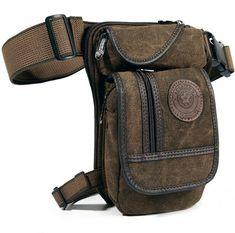Hombre Lona Bolsa de cadera Pierna Moto Rider Táctica Militar Cintura Correa Fanny Pack   Ropa, calzado y accesorios, Accesorios para hombre, Mochilas, bolsos y maletines   eBay!