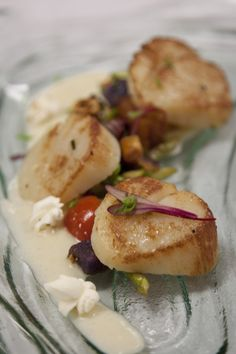 Seared Scallops With Carambola Sauce, Parsnip And Succotash Recipe ...