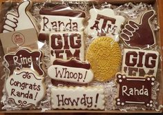 Aggie Ring Day Cookies I am a licensed crafter for Texas A&M University. https://www.facebook.com/sweetcharleyconfections