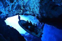 Blue cave in Vis, Croatia