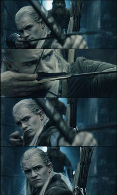 What did I tell you? Legolas (or should I say Orlando Bloom) has the absolute best facial expressions!