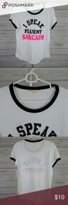 """Women's T-shirt Size Large """"I SPEAK FLUENT SARCASM"""" women's t-shirt in size large. Tops Tees - Short Sleeve"""