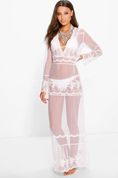 Erin Boutique Lace Boho Beach Dress | Boohoo