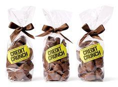 Embalagens criativas de chocolate