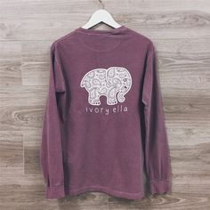 Ivory Ella Women Print Animal Elephant T Shirt Loose Long Sleeve Harajuku Tops