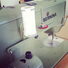 A very vintage BERNINA! Still sewing after all these years.