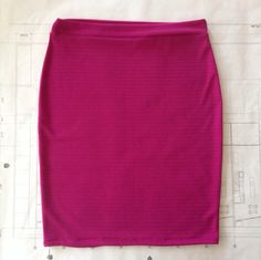 FUCHSIA women's plus pencil skirt by handmaidends on Etsy, $22.00