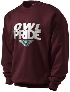 TALL William Woods University Owls Men's Tall Ultimate Pullover 9oz Crewneck Sweatshirt (PC90T) $54.99