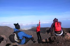 At top of Central Java, Mt. Slamet