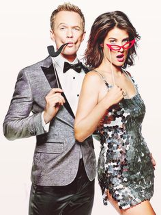 Robien Scherbatsky (by Cobie Smulders) & Barney Stinson (by Neil Patrick Harris) * How I Met Your Mother *