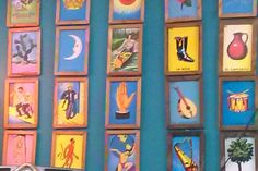 Mexican loteria frame Loteria Cards, Day Of The Dead, Frames, Interiors, Cute, Poster, Painting, Vintage, Ideas