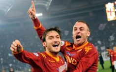 Roma's Captain and Vice-Captain, Francisco Totti & Danielle DeRossi