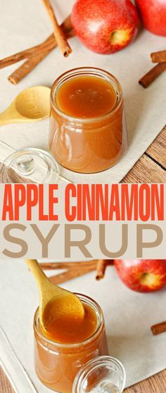 This Apple Cinnamon Syrup recipe is fabulous poured over pancakes, waffles, cheesecakes and ice cream. It's a sweet autumn treat that is super versatile as a syrup and sauce. Homemade Syrup, Homemade Sauce, Cinnamon Syrup, Cinnamon Apples, Cinnamon Ice Cream, Cinnamon Rolls, Apple Recipes, Fall Recipes, Pancakes And Waffles