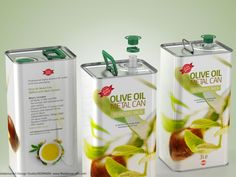 Olive Oil Metal Can 3000ml 3D model + bonus