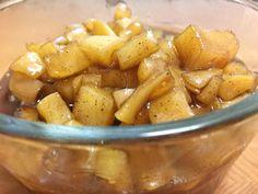 Vegan Breakfast Recipes, Vegetarian Recipes, Healthy Recipes, Vegan Desserts, Breakfast Ideas, Healthy Meals, Baked Apples, Cinnamon Apples, Apple Compote Recipe