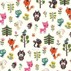 Forest animals by designer Helen Dardik