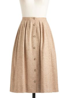 Vintage Tweed-ish Modern Skirt | Mod Retro Vintage Vintage Clothes | ModCloth.com