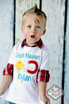 Chick Magnet Shirt  Boys Easter Shirt  by TeenyTinyFashions, $23.00