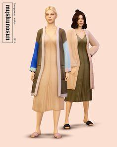 🌻 loungewear addon - slip dress & cardigan Sims 4 Cc Packs, Sims 4 Mm Cc, Sims Four, Sims 4 Cas Mods, Sims 4 Body Mods, Sims New, Sims 4 Teen, Maxis, Sims 4 Anime