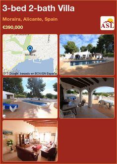 3-bed 2-bath Villa in Moraira, Alicante, Spain ►€390,000 #PropertyForSaleInSpain