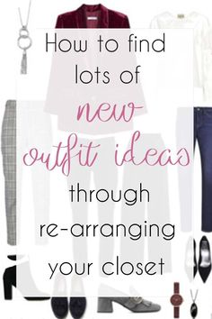 How To Find Lots Of New Outfit Ideas Through Re Arranging Your Closet - Dance Leotards Edgy Outfits, Classic Outfits, New Outfits, Summer Outfits, School Outfits, Work Wardrobe, Capsule Wardrobe, Organizing Wardrobe, Capsule Clothing