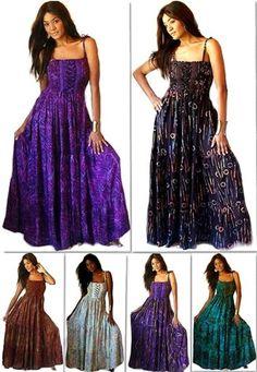 Spaghetti Strap Batik Print Maxi Dress