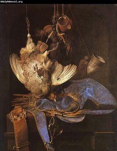 Willem van Aelst, Still Life with Hunting Equipment