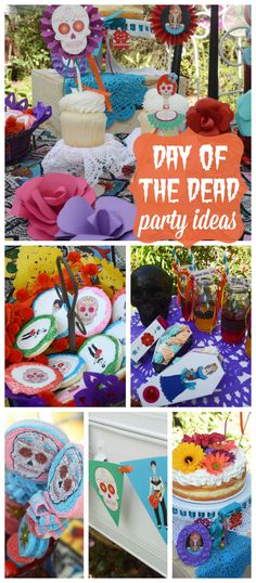 A gorgeous party celebrating the Day of the Dead with bright colors, flowers and sugar skulls!  See more party planning ideas at CatchMyParty.com!