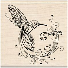 The Inkadinkado® Hummingbird Stamp is perfect for embellishing scrapbooks and handmade cards...