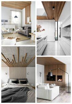 revêtement plafond en tasseaux Small House Interior, Dark Wooden Furniture, Interior, Home Decor, House Interior, Plafond Design, Grill Door Design, Interior Design, Bedroom Tv Unit Design