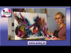 YouTube Painting Videos, Painting & Drawing, Drawing Techniques, Art Lessons, Abstract Art, Projects To Try, Canvas, Drawings, Creative
